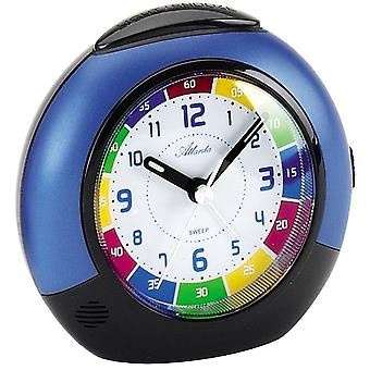 Atlanta kids alarm clock quartz blue creeping second light function