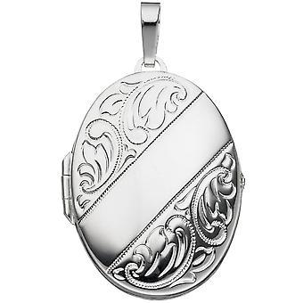 Medaillon 925/-S Medaillon silber Sterlingsilber Fotoanhänger Sterling Silver
