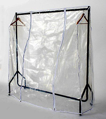 Transparent Clothes Rail Covers for Various sizes With 2 Zippers (6ft Long x 5ft High)