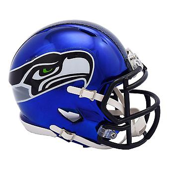 Riddell mini football helmet - NFL Seattle Seahawks CHROME