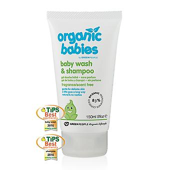 Green People Organic Babies Baby Wash And Shampoo Scent Free