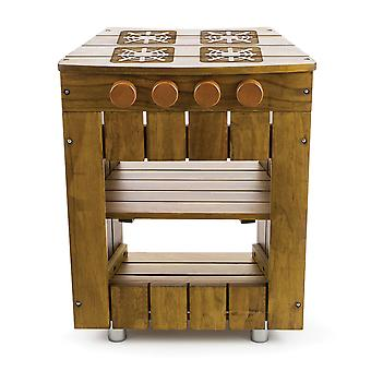 Tidlo Wooden Children's Outdoor Cooker Pretend Roleplay Toys
