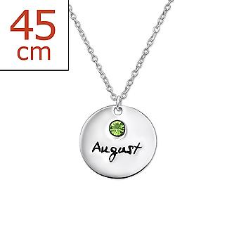Augustbirthstone - 925 Sterling Silver Jewelled Necklaces - W30221x