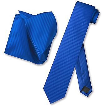 Vesuvio Napoli laiha kravatti raidallinen pystyraitoja miesten niskaasi solmio & nenäliina