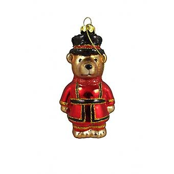Gisela Graham Glass Beefeater Christmas Decoration -