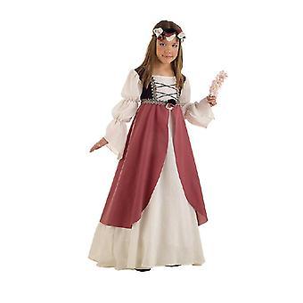 Clarissa servante médiévale enfant costume fille maiden Castle robe
