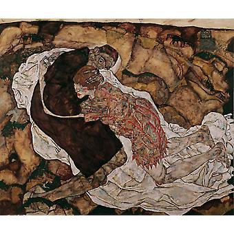 Death and Maiden, Egon Schiele, 60x50cm