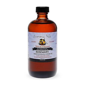 Sunny Isle Jamaican huile de ricin romarin 8oz.