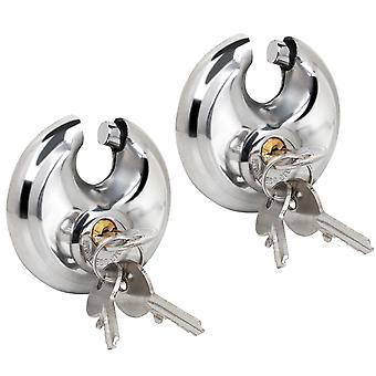 TRIXES 2 X Heavy Duty Outdoor Security Padlocks Lock 70mm Secure Sheds Garage Gate Garden