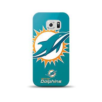 Mizco Sports NFL Oversized Snapback TPU Case for Samsung Galaxy S6 (Miami Dolphins)