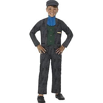 Костюм Шахтера ужасных историй, серый, с верхней, брюки, галстук & шляпа