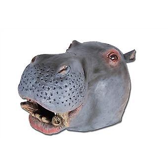 Hipopótamo máscara cabeza de goma.