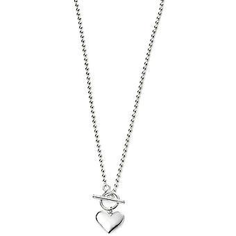 Alkaa sydän pallo Chain kaulakoru - hopea