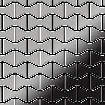 Metall mosaik rostfritt stål legering Kismet-S-S-MM