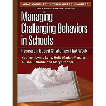 Gestion difficile des comportements dans les écoles: les stratégies axées sur la recherche qui fonctionnent