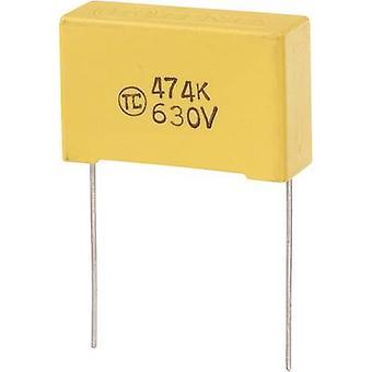 TRU COMPONENTS 1 pc(s) MKS condensateur à film mince Plomb radial 0,47 μF 630 V DC 5 % 27,5 mm (L x W x H) 32 x 11 x 20 mm