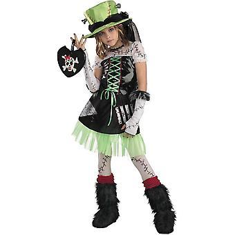 Costume enfant de zombie femme
