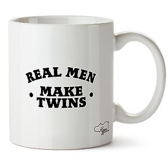 Hippowarehouse Real Men Make Twins Printed Mug Cup Ceramic 10oz