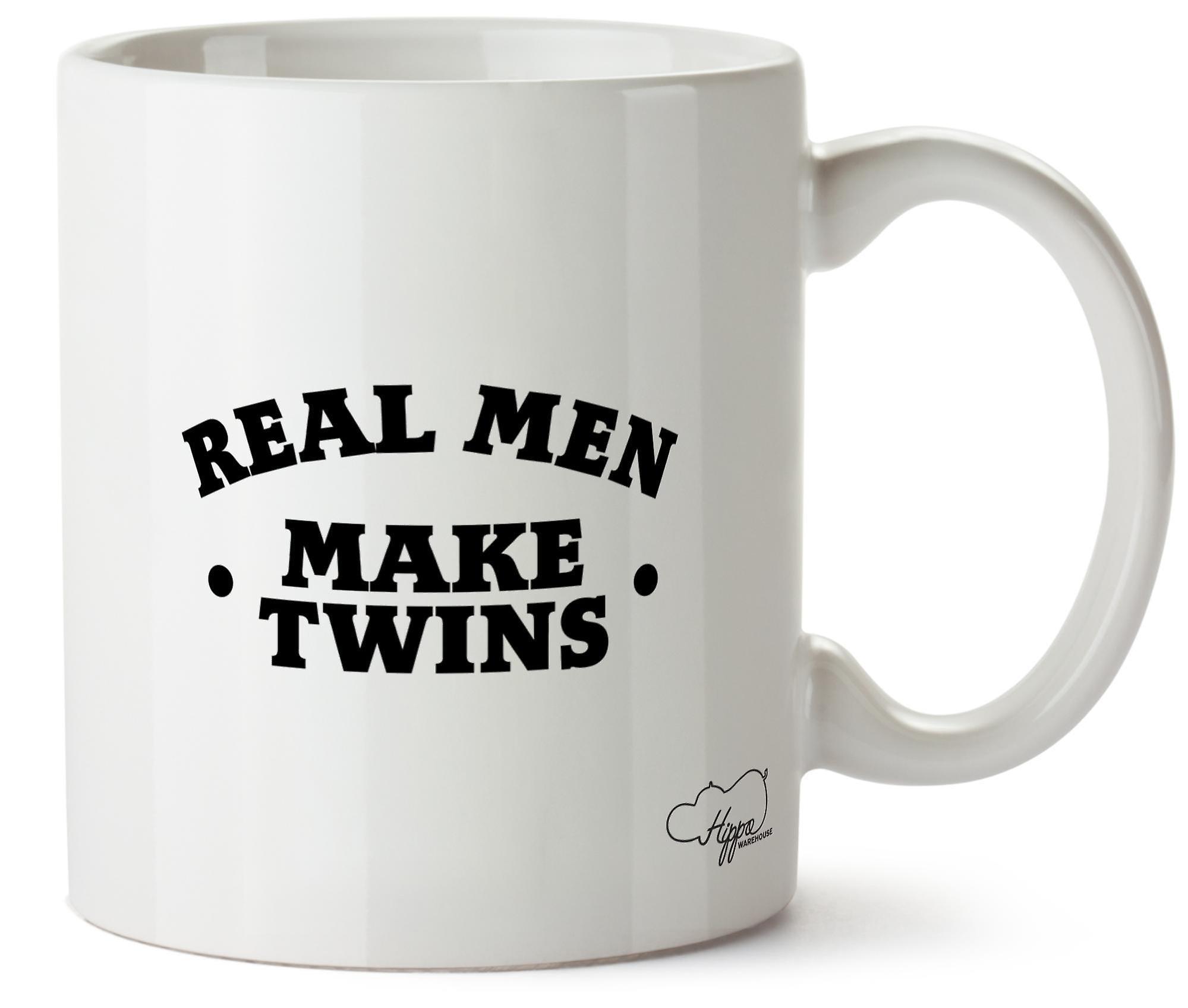 Hippowarehouse Real мужчины делают Близнецы печатных кружка Кубок керамические 10oz