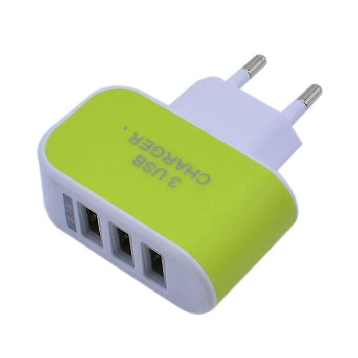Stuff Certified® 10-Pack Triple (3x) USB Port iPhone / Android Wall Charger Wall Charger AC Green Home