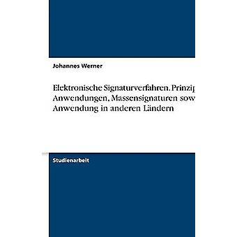 Elektronische Signaturverfahren. Prinzipien Anwendungen Massensignaturen Sowie sollte in Anderen Lndern von Werner & Johannes