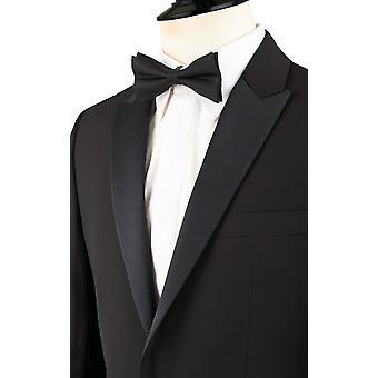 ・ ドベル メンズ黒のタキシード ディナー ジャケット スリム フィット ピーク ラペル