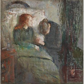 The Children is ill, Edvard Munch, 50x50cm