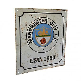 Manchester City Logo Retro Sign