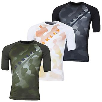 Oakley Mens Camou Rashguard Surf Tee Flatlock Camo Camouflage T-Shirt