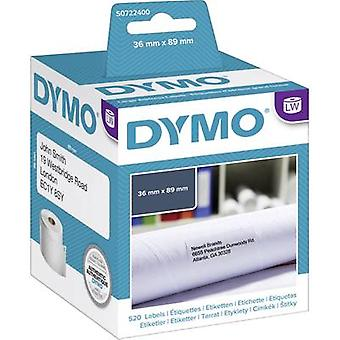DYMO Label roll 99012 S0722400 89 x 36 mm Paper White 520 pc(s) Permanent Shipping labels