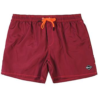 Replay Logo Swim Shorts Maroon