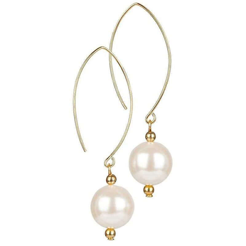 14kt Gold Filled Pearl Oval Open Earrings