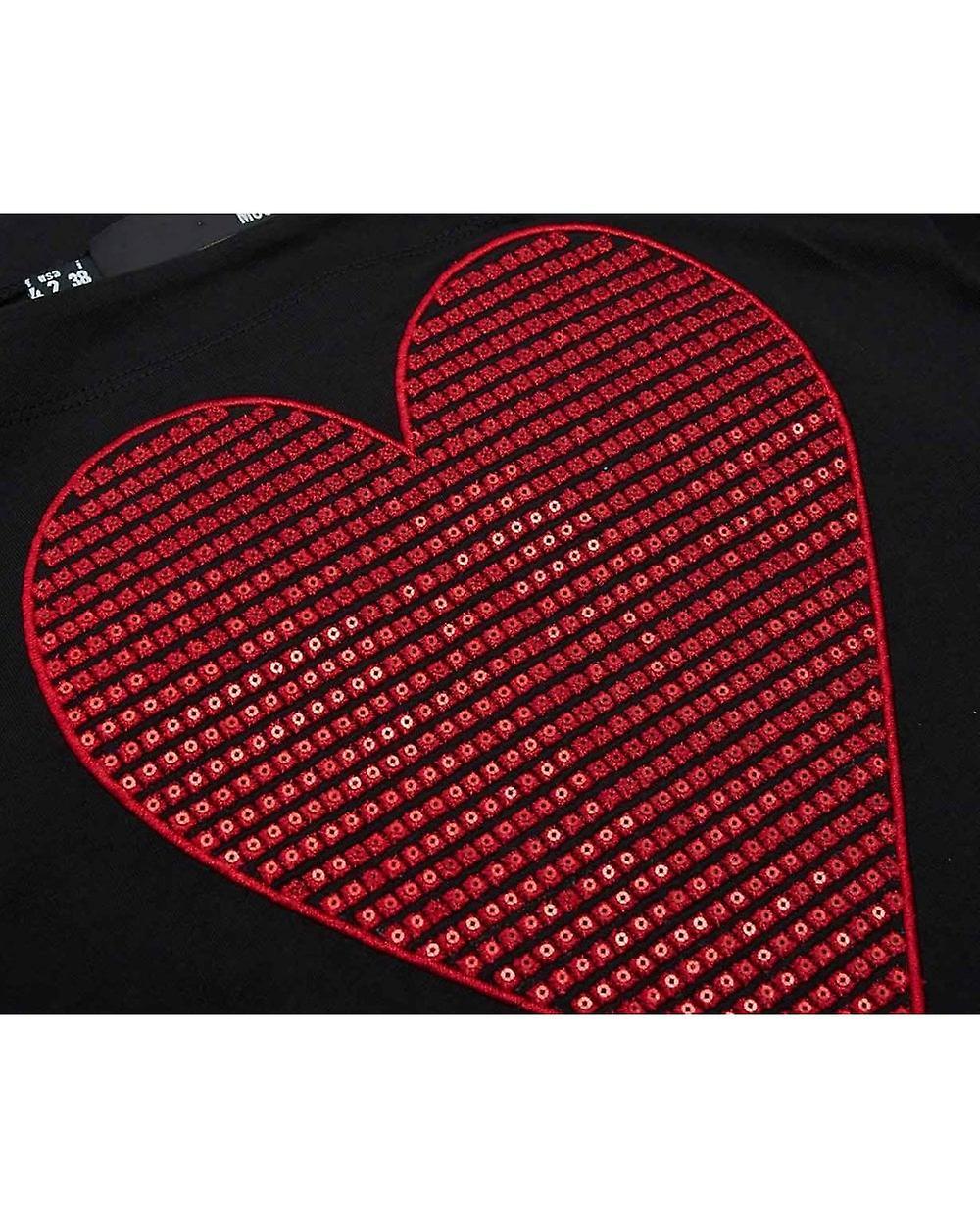Love Moschino Sequin Heart Swing Dress