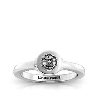 Anillo Boston Bruins en diseño de plata de ley por BIXLER