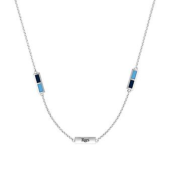 Tampa Bay Rays Sterling Silver Engraved Triple Station Necklace In Blue & Sky Blue