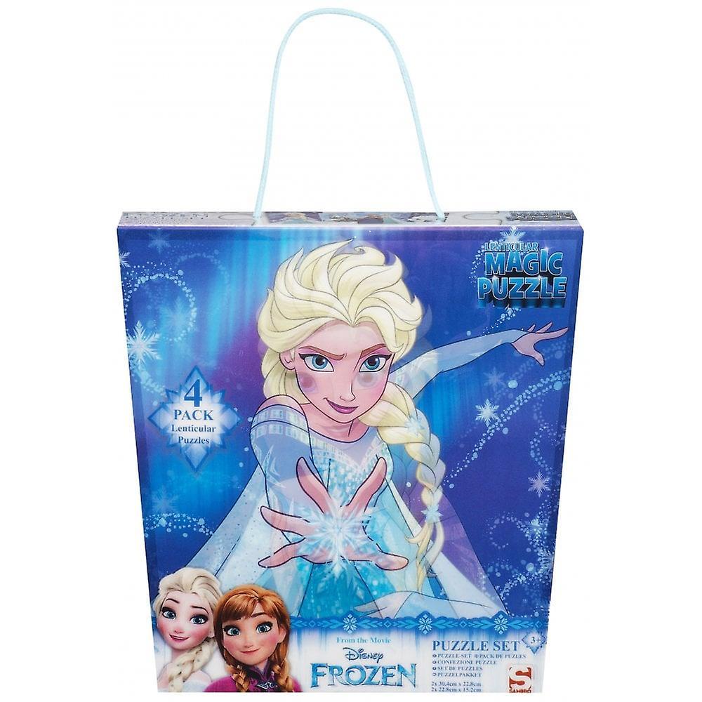 Disney fryst fryst 4 pack Super 3D pussel set