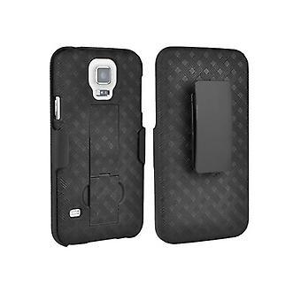Verizon Kickstand kuori tapauksessa ja kotelossa Samsung Galaxy S5 - musta