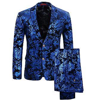 Allthemen Men's Tuxedos Slim Fit Stampato Casual Suit Giacca&Pantaloni