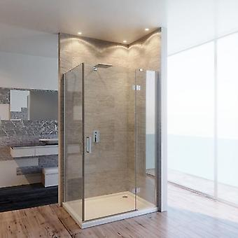 Caja de ducha transparente de 8mm contra el cáncer con puerta giratoria