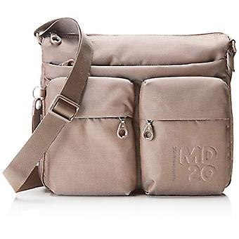 Mandarin Duck Md20 Women's Beige Shoulder Bag (Taupe) 10x21x28.5