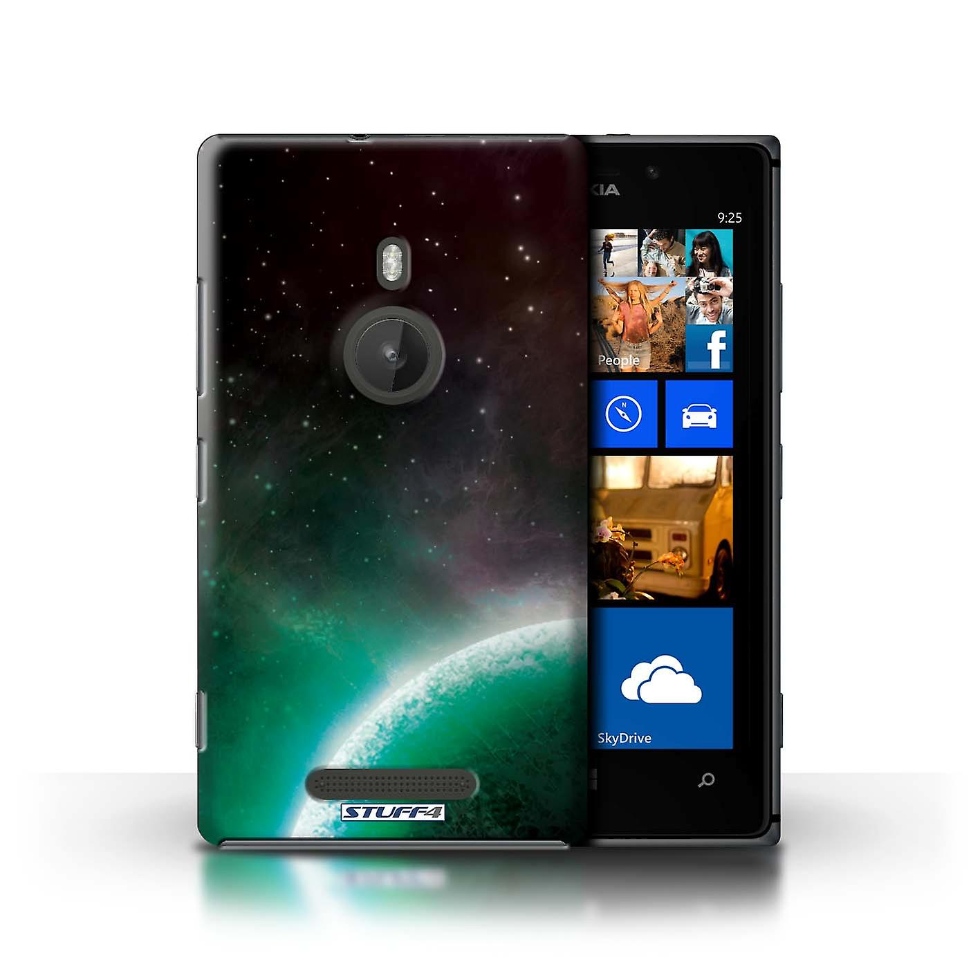 STUFF4 Case/Cover for Nokia Lumia 925/Green Planet/Space/Cosmos
