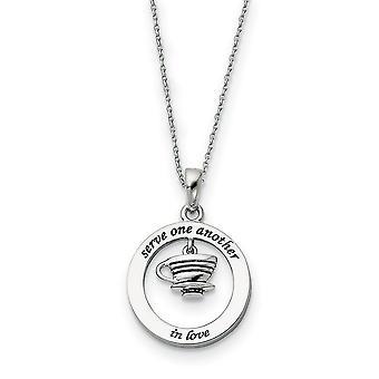 925 Sterling Silver Polerad Present Boxed Spring Ring Rodium pläterad Servera varandra 18inch halsband smycken gåvor för W