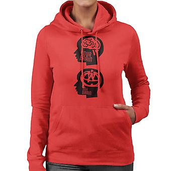 Your Brain My Brain Halloween Women's Hooded Sweatshirt