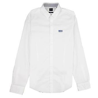 Hugo Boss Biado Regular Fit A maniche lunghe Camicia Bianco