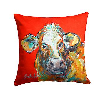 Cow Caught Red Handed Too Fabric Decorative Pillow