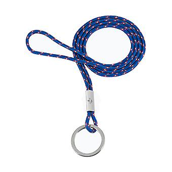 Skipper pendant keychain necklace nylon/stainless steel blue 8304