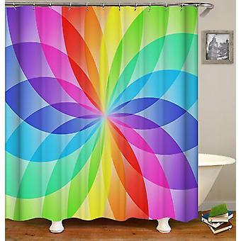 Ellissi arcobaleno cerchio doccia tenda