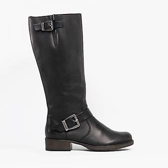 Rieker Z9580-00 Ladies Leather Tall Riding Boots Black
