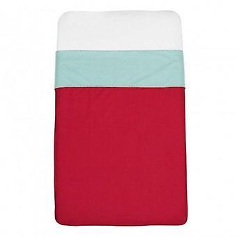 Mundo melocoton - red cot sheets (120x150)