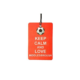 Keep Calm And Love Middlesbrough Car Air Freshener